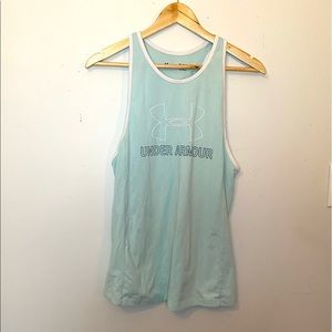 🌸 2/$20 TWO Mint Green Under Armour Workout Tanks